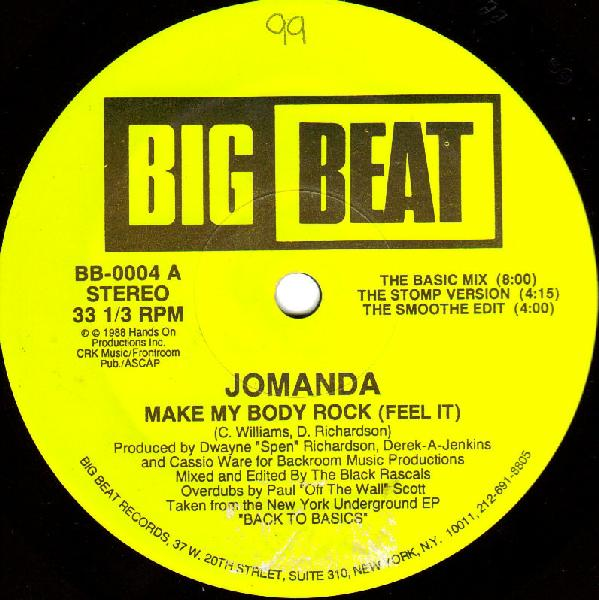Classic house music jomanda make my body rock feel it for House music 1988