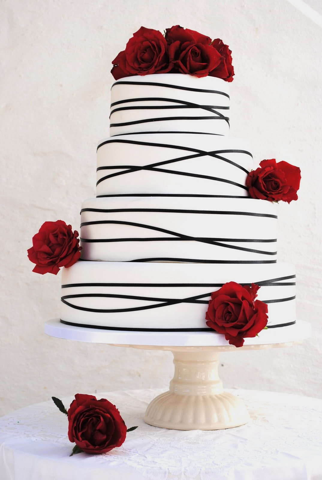Berry covered wedding cake My wedding ideas