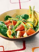 #5 Food Therapy Meal - Sauteed Salmon with Vegetables and Garlic