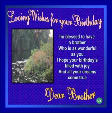 Happy Birthday Greetings and Cards: Birthday gifts for your Brother