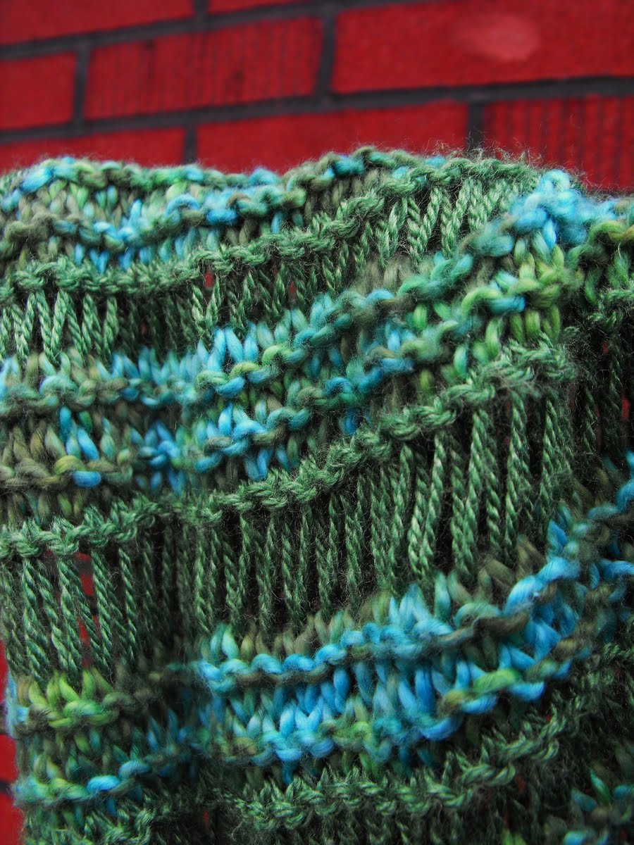 Knitting Pattern Spring Scarf : close knit: Athabasca Spring Scarf Knitting Pattern
