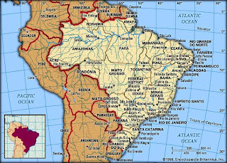 map of pantanal conservation area brazil