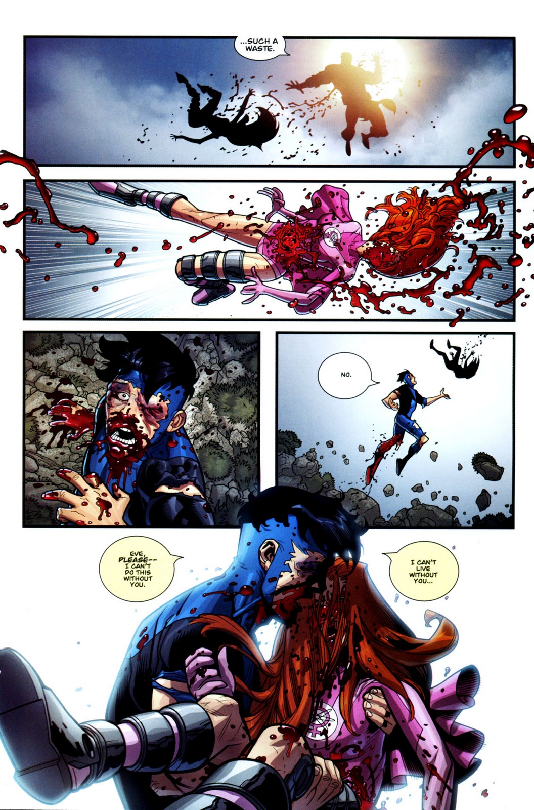 i u0026 39 d never seen any violence in comic book before that made