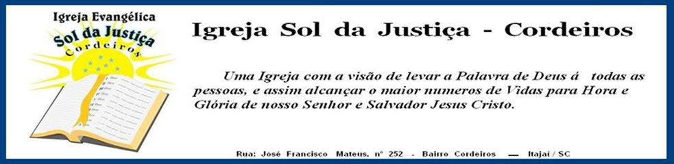 Igreja Sol da Justiça - Cordeiros