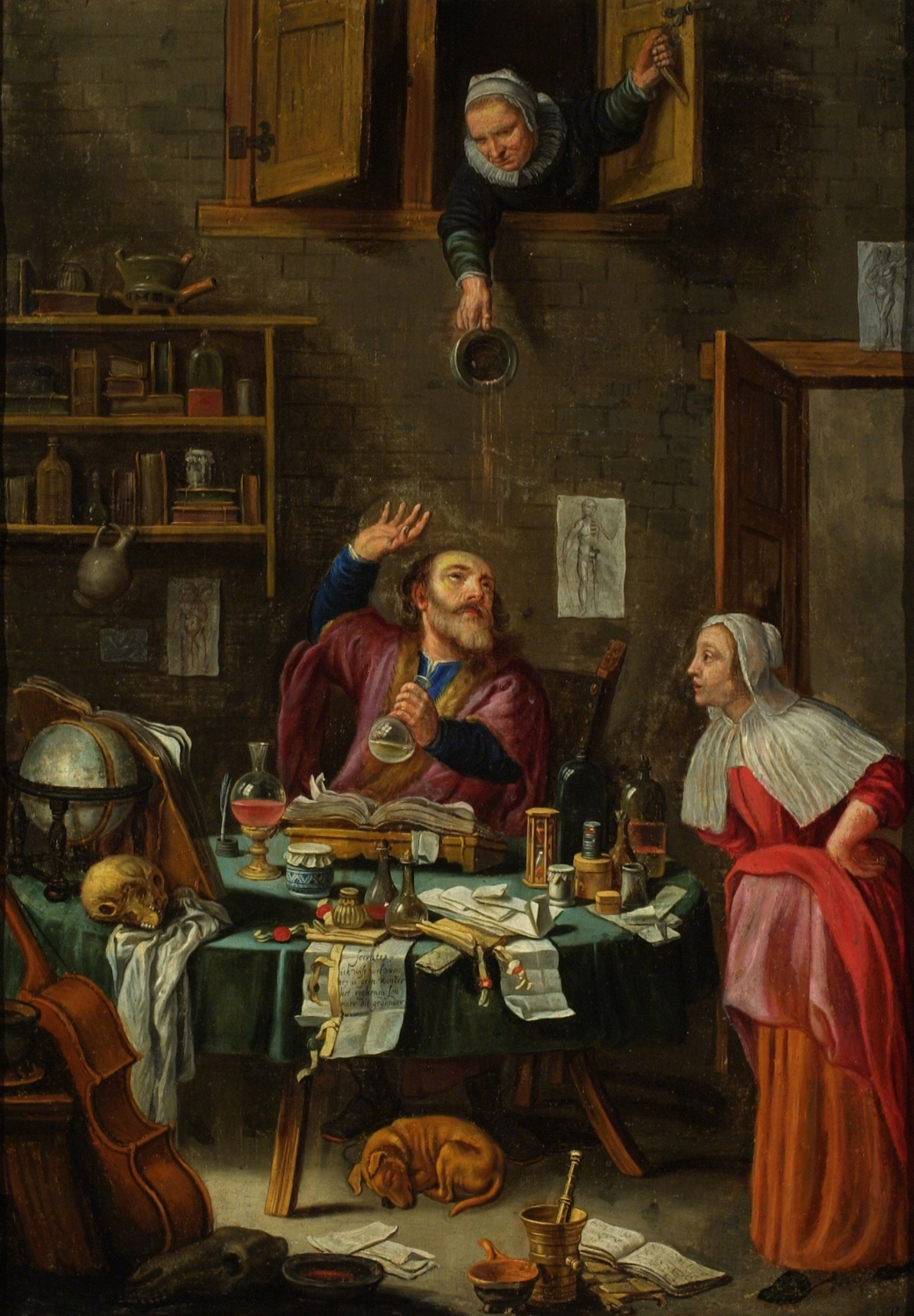 The Alchemist Oil Painting