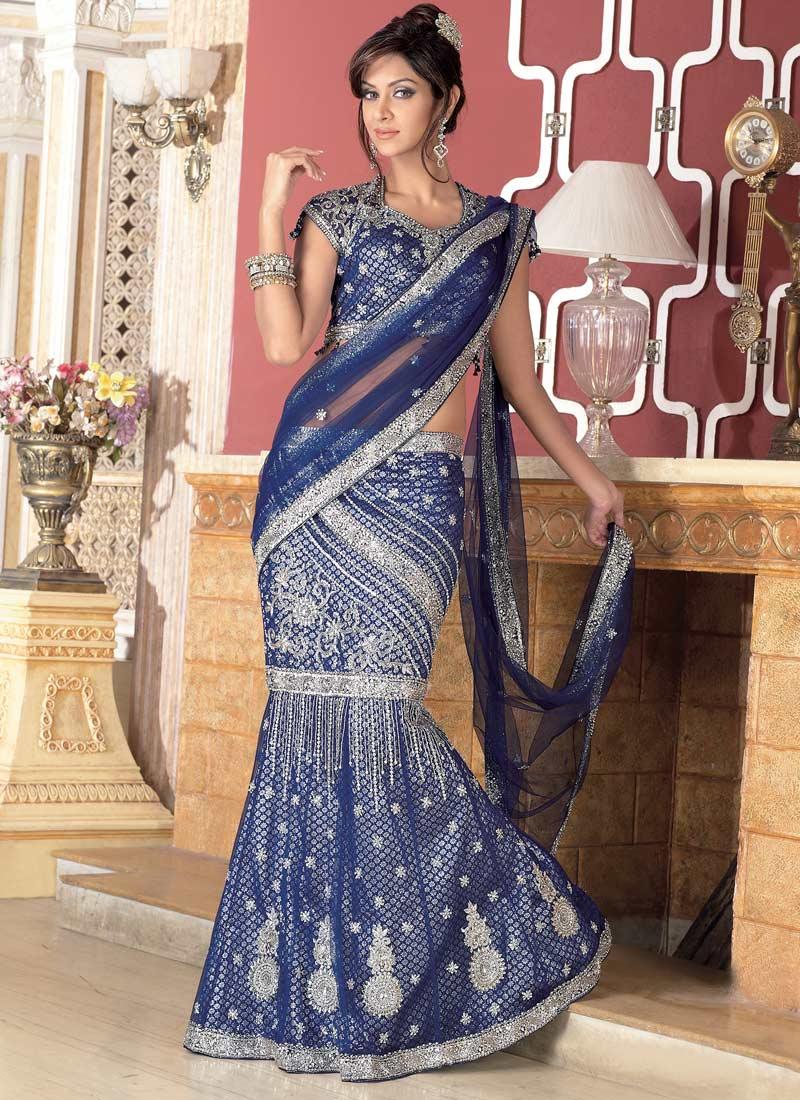 Bridal lehenga royal blue