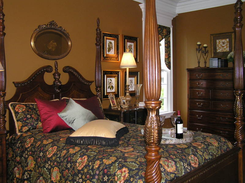 love the rich brown walls and the classy traditional