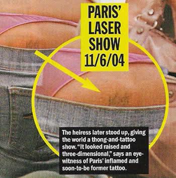 Paris Hilton Tattoos