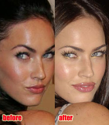 megan fox plastic surgery before after. Megan Fox Plastic Surgery