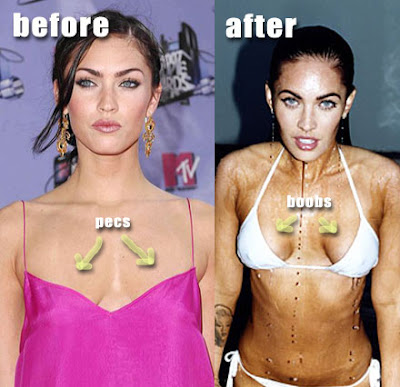 megan fox before. megan fox before plastic