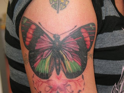 arm butterfly tattoo photos