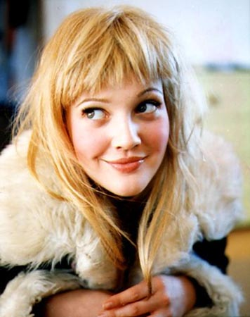 Drew Barrymore Messy Bangs Hairstyle. Checkout theses cute photos of lovely
