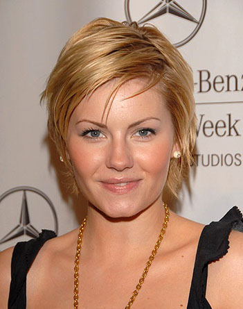 Elisha Cuthbert Short Pixie Hairstyle. Here we have a some beautiful photos
