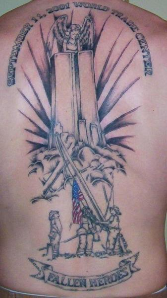 September 11th tribute tattoo design.