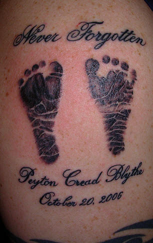 Cute Baby Feet Tattoos Designs