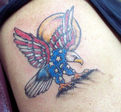 USA eagle tattoo.