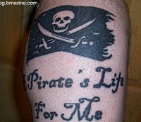 beauty tattoo: Pirate Flag Tattoos