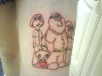 Family guy tattoo.