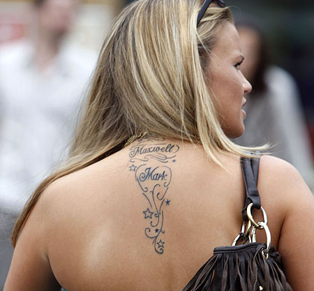 Nape of neck tattoo designs