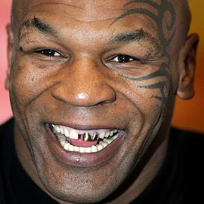 Mike Tyson tribal face tattoo.