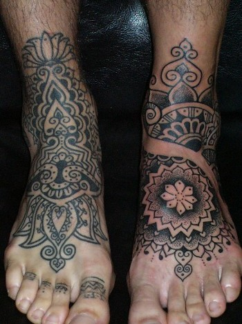 Feet tattoos aren't just for women, checkout these foot tattoo ideas for men