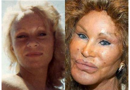 Jocelyn Wildenstein looking beautiful before plastic surgery.