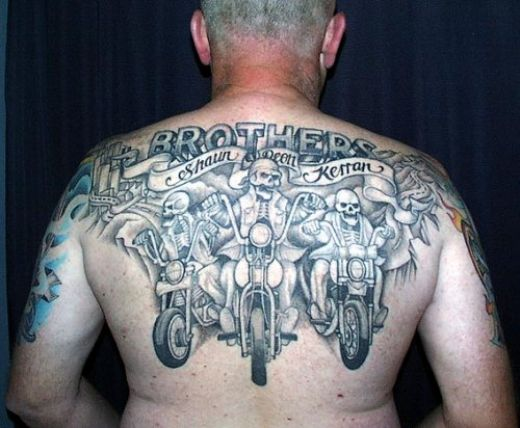 Harley Davidson tattoos are perhaps the most common design among bikers.