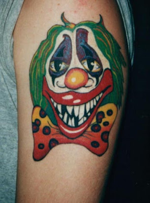 Clown Tattoo 2 by ~RightInTwo on deviantART. Clown Tattoos
