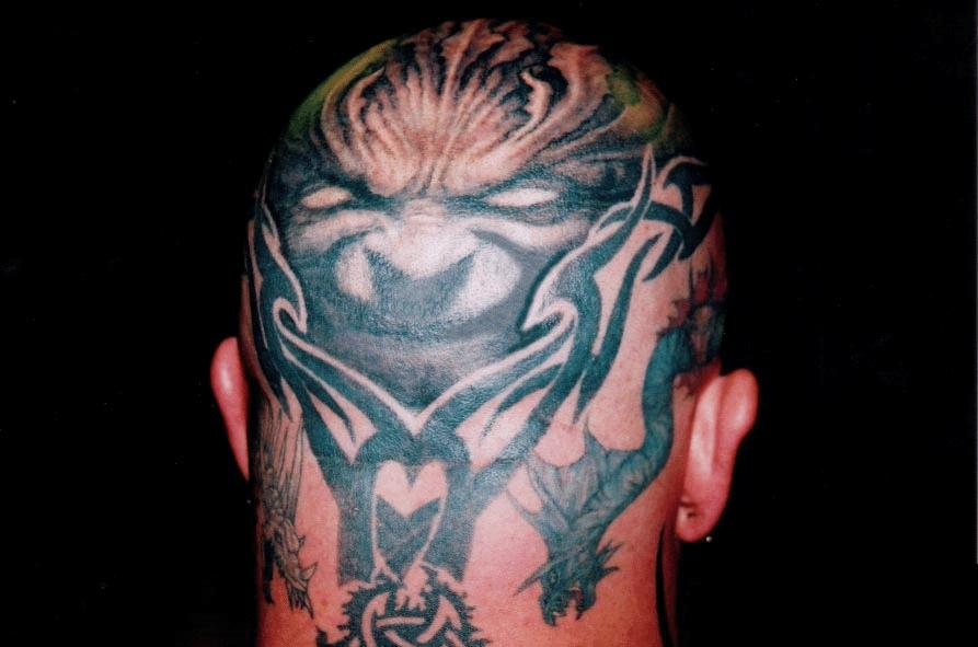 Back of Head Tattoos