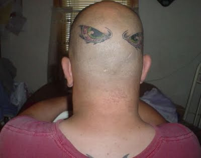 tattoos on head. gypsy head tattoo.