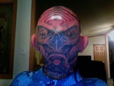 tattoos on head. tattoos on head.