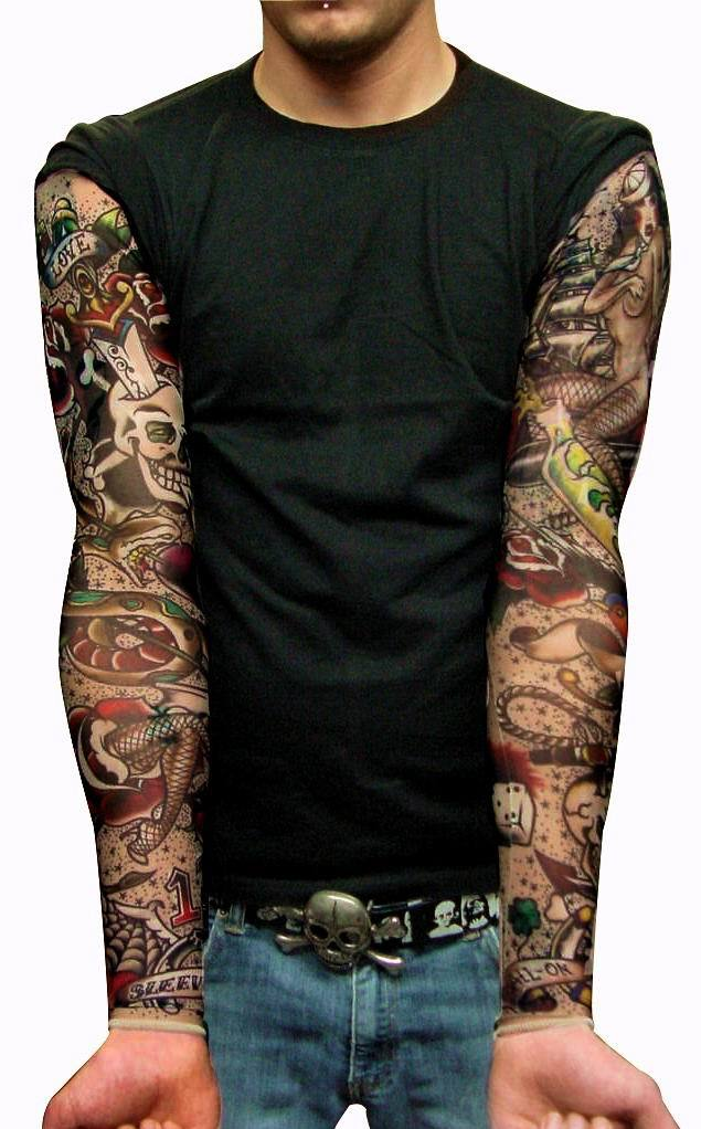 rose sleeve tattoo for men