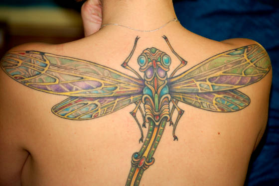 Dragonfly tattoos could be several various colours, and for males that