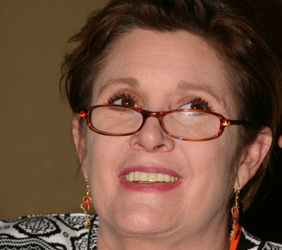 carrie fisher star wars pictures. Carrie Fisher Teeth