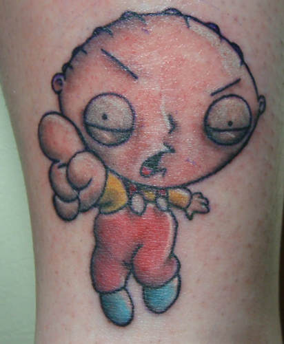 griffin tattoos. Stewie Griffin pointing