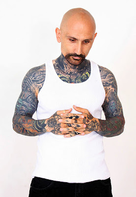 Robert LaSardo is almost completely covered in tattoos, most of which are of