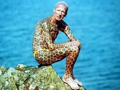 The leopard man on the prowl in his natural habitat.