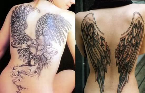 angel wing tattoos on back for men. Tattoos Angel Wings