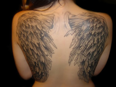 small angel wings tattoo