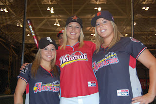 2009 celebrity softball game MVP's Kristen Butler, Megan Gibson and Shawn Johnson