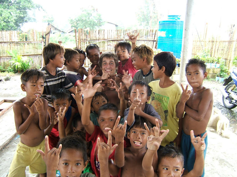 While helping build a church in the Phillipines, Peter had some time to goof off with the kiddos!