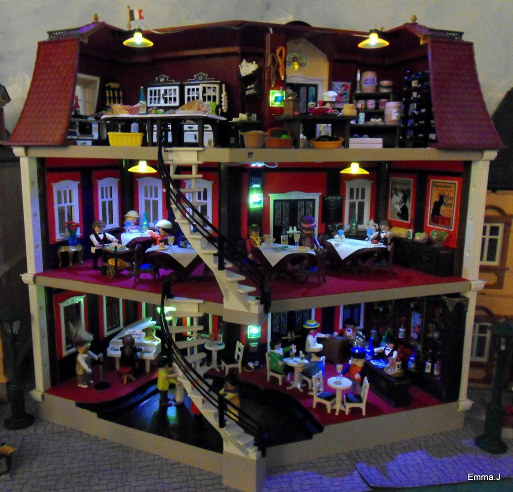 5302 bistro de paris emma j 39 s creations - Gran casa de munecas playmobil ...