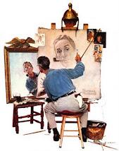 Auto Retrato Triplo - Norman Rockwell
