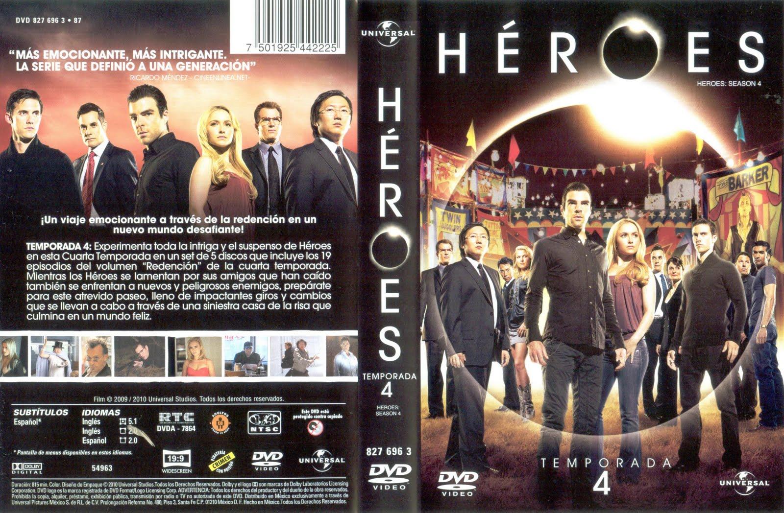 Peliculas en dvd: Heroes 4 temporada (5 discos)