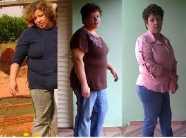Antes da RA, com 3 meses de RA e em 01/06/08 com 5 meses de RA e menos 30 quilos