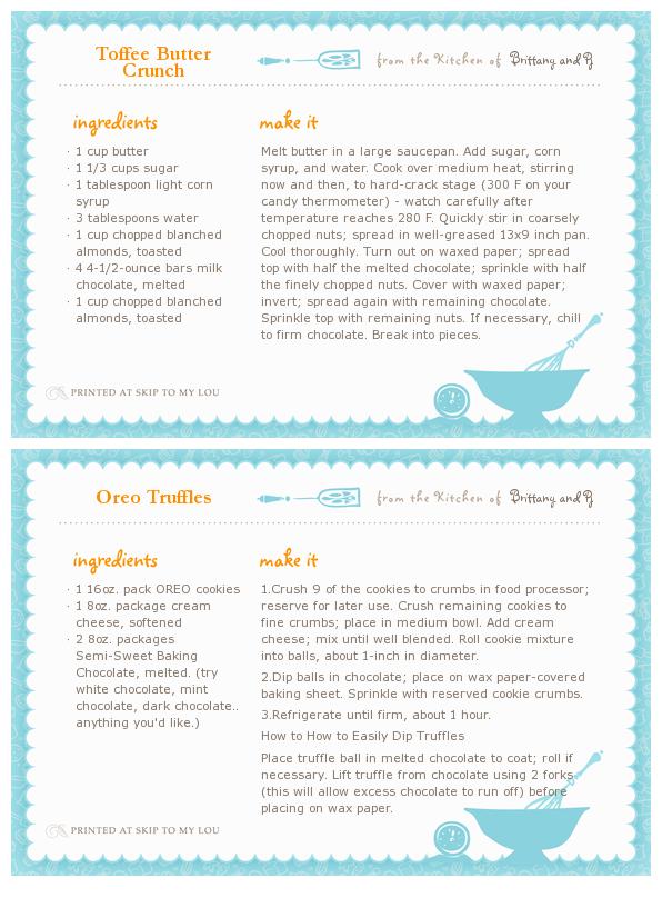 recipe maker template