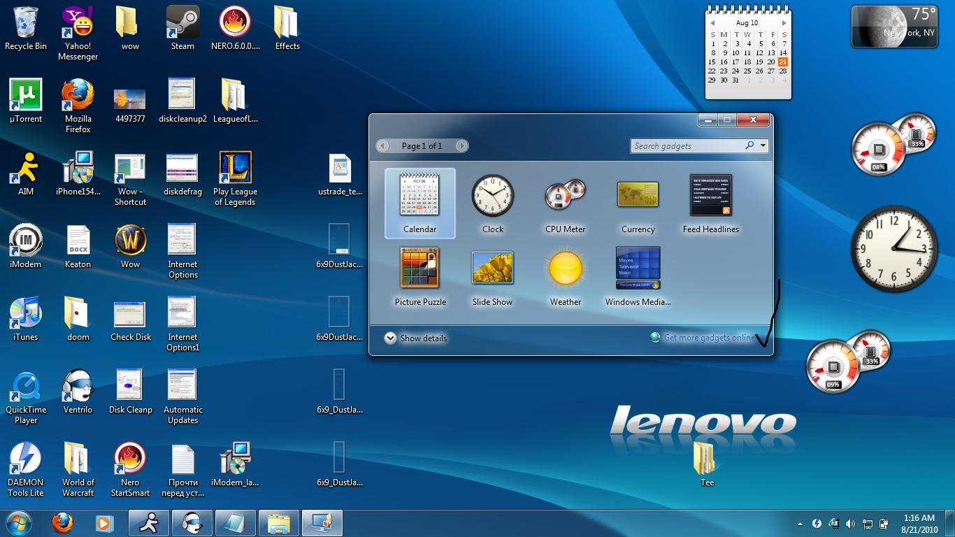 how to get a desktop calendar widget