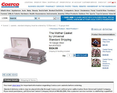 Buy your coffin online