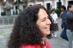 Luisa Polanco, organizadora de la exposición de pintura infantil