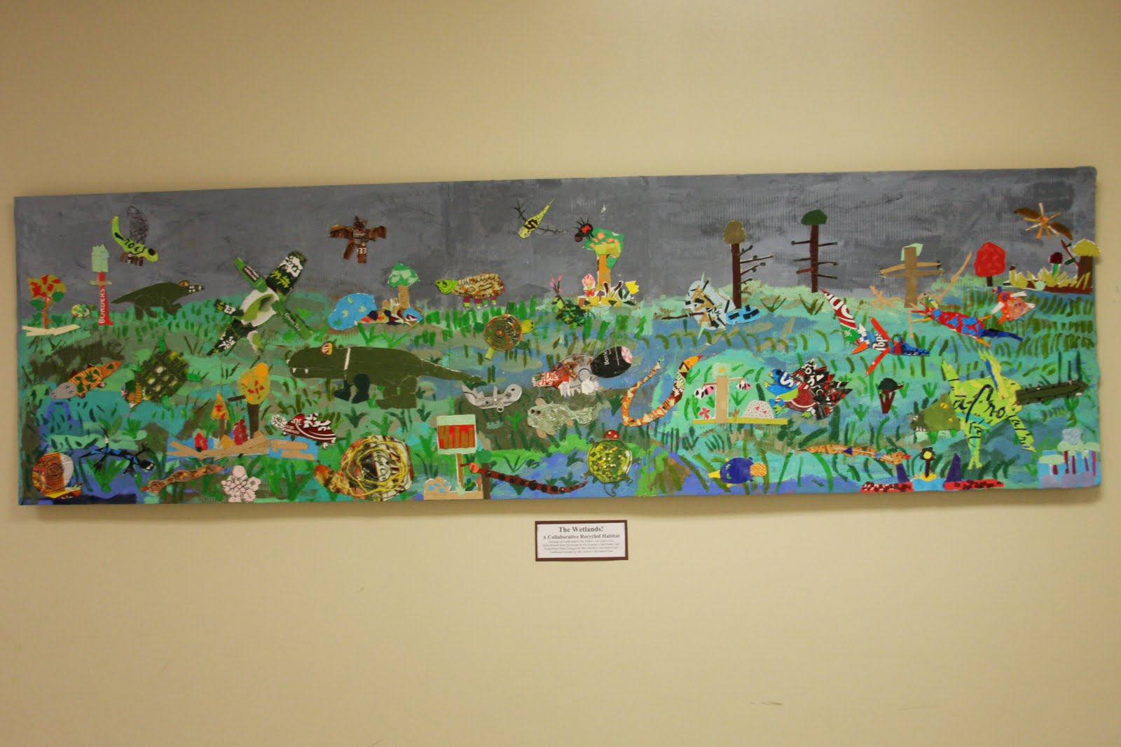 Briargrove elementary art page the wetlands a for Elementary school mural